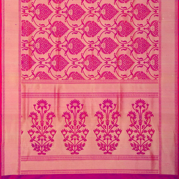 SIGNORAA PINK KANCHIPURAM SILK SAREE-KSL02557A- Full VIew