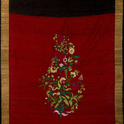SIGNORAA BLACK RAW SILK SAREE-EMB02757- Full View