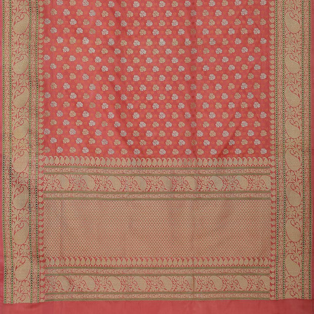 SIGNORAA PINK BANARASI SILK SAREE-BSK08890- Full View