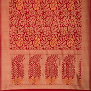 SIGNORAA RED KANCHIPURAM SILK SAREE-KSL02557- Full View