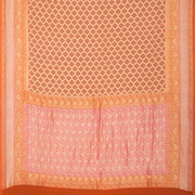 SIGNORAA PEACH BANARASI KHADDI GEORGETTE SAREE-CHG03543- FULL VIEW