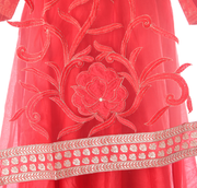 SIGNORAA RED CHANDERI COTTON READY-TO-WEAR SALWAR SUIT-SLW03101 - VIEW 2