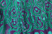 SIGNORAA PURPLE AND BOTTLE GREEN GEORGETTE READY-TO-WEAR SALWAR SUIT-SLW02780- View 2
