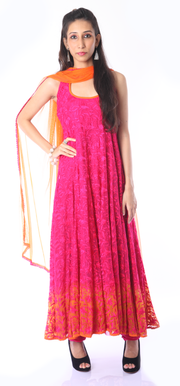 SIGNORAA RANI PINK READY-TO-WEAR SALWAR SUIT- View 1