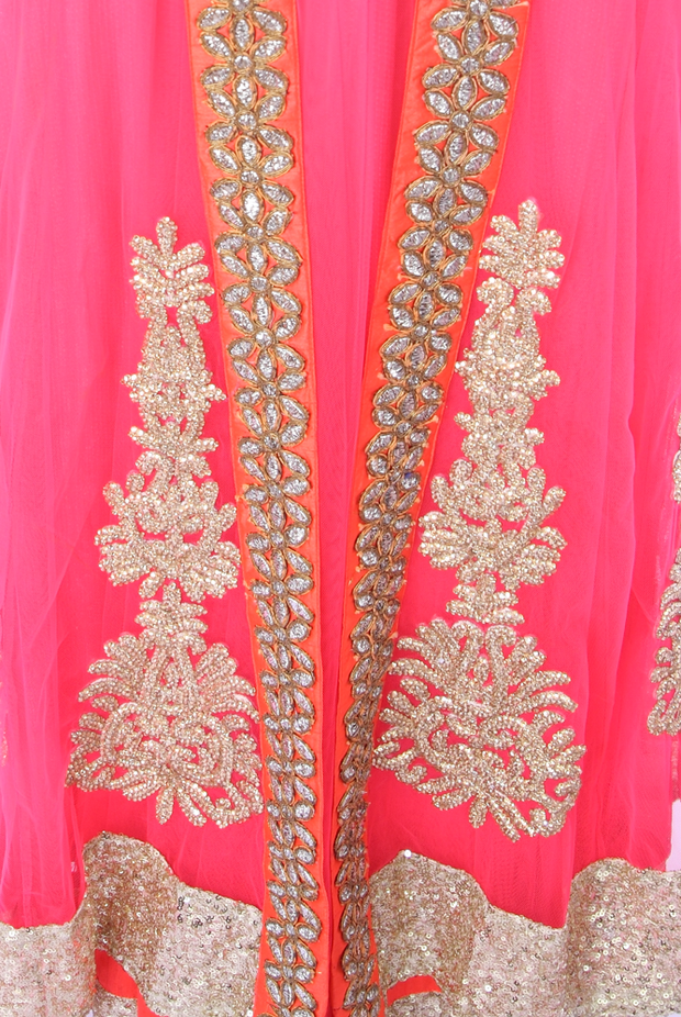 SIGNORAA NEON PINK NET READY-TO-WEAR SALWAR SUIT-SLW03084-View 2