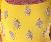 Signoraa Yellow Georgette Semi Stitched Salwar Suit-SMS05766- Design View