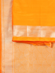 Yellow Jaree Brocade Saree