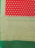 Antique Georgette Shaded Contrast Border