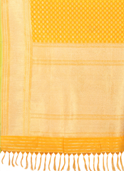 SIGNORAA YELLOW BANARASI GEORGETTE SILK SAREE-BSK04989 - Product View 1