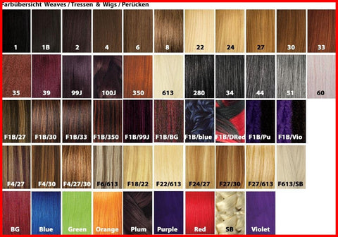 X,Pression hair Ultra Braid All Colors L 82inch