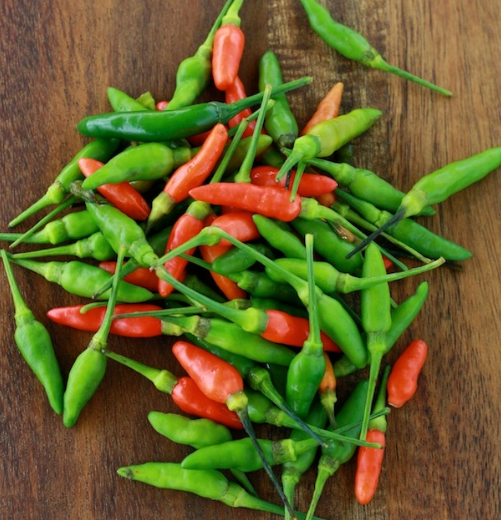 Bird eye Green Chillies - 50g