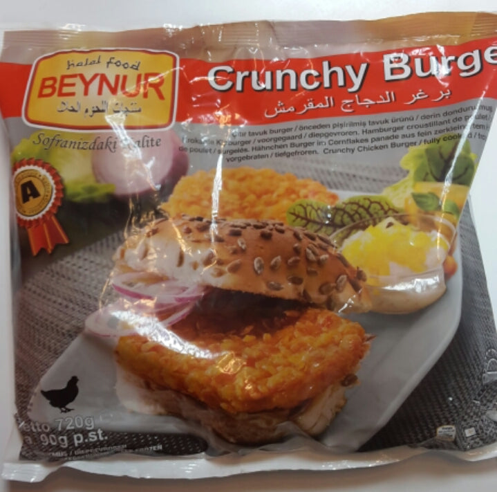 Beynur Chicken Crunchy Burger 720g