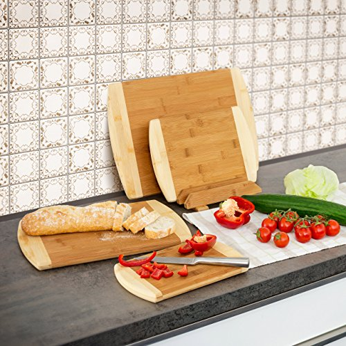 Relaxdays 10019154 4 Kitchen Boards in Various Sizes