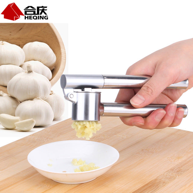Stainless steel ginger & garlic press daosuan device