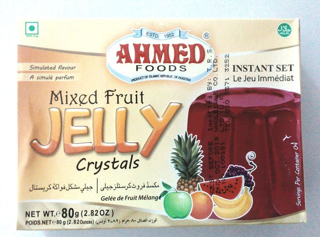 Ahmed Jelly Mix Fruit Halal 80g