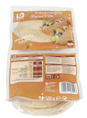 BONI SELECTION 10 pita breads 500g