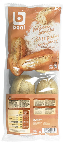 BONI SELECTION 4 whole wheat rolls 300g