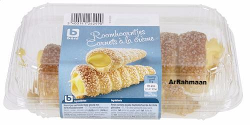 BONI SELECTION Cream horns 2x75g