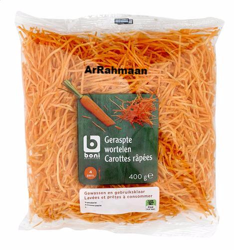 BONI SELECTION Grated carrots 400g