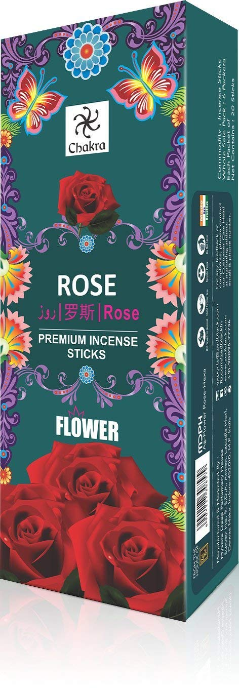 Chakra Incense sticks Rose 20sticks