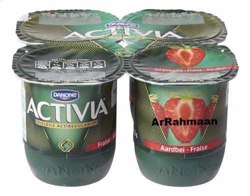 DANONE ACTIVIA Yogurt strawberry 4x125g