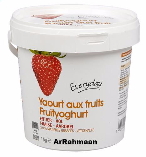 EVERYDAY Full fruit yoghurt strawberry 1kg