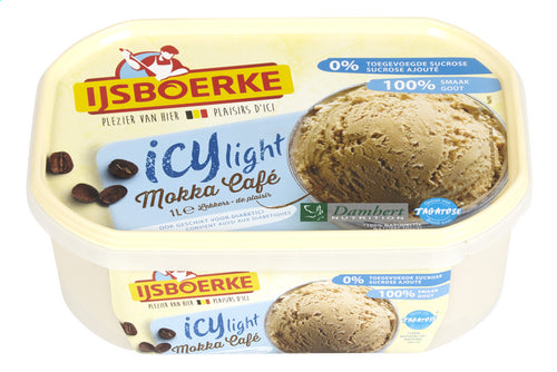 IJSBOERKE ICY LIGHT ice cream mocha 1L