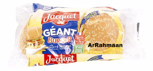 JACQUET 4 Big Hamburger Bread 330g