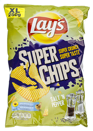 LAY'S SuperChips peper&zout XL bag 250g