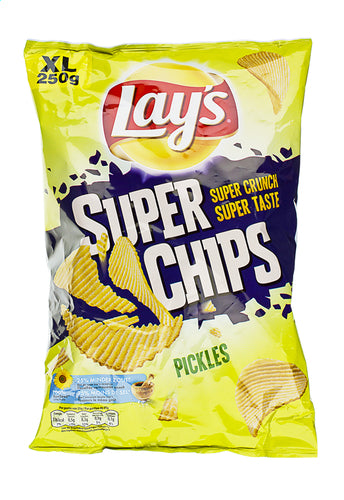 LAY'S SuperChips pickles XL bag 250g