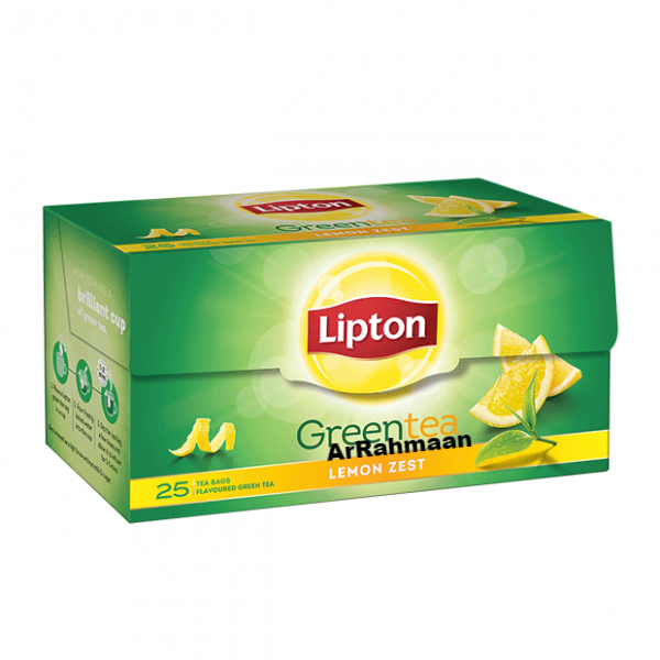Lipton green tea (Lemon Zest) - 25 bags