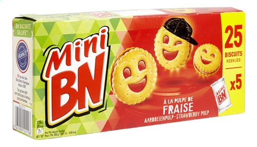 BN mini strawberry biscuits 175g