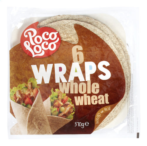 POCO LOCO Whole wheat wraps 6 pieces 370g