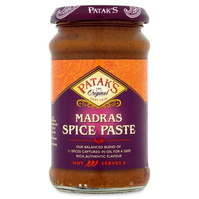 Patak Madras Spice Paste (hot), 283g