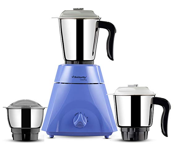 Butterfly Grand Plus 750-Watt Mixer Grinder with 3 Jars (violet)