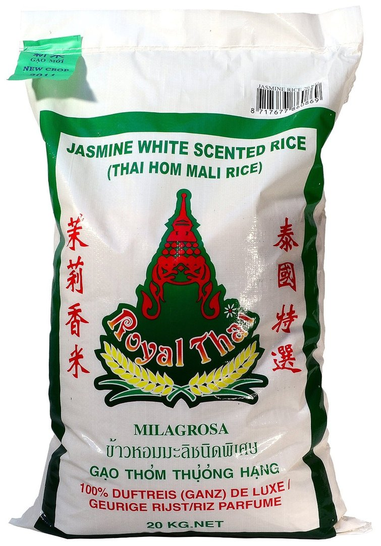 ROYAL-THAI Jasmine White scented rice 20kg