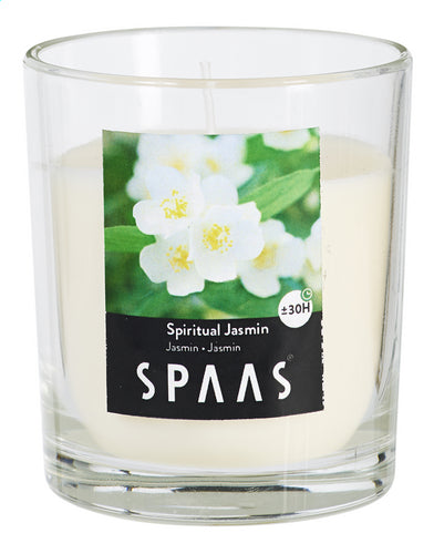 SPAAS Jasmine glass scented candle +/-25H