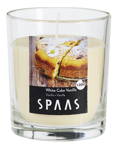 SPAAS vanilla glass scented candle