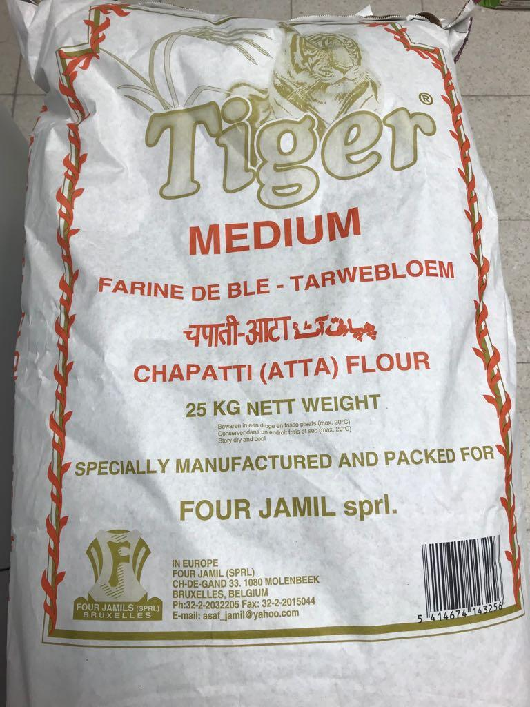 Tiger Atta Medium 25kg