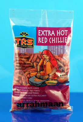 TRS Extra Hot Red Chillies (Whole) 400g