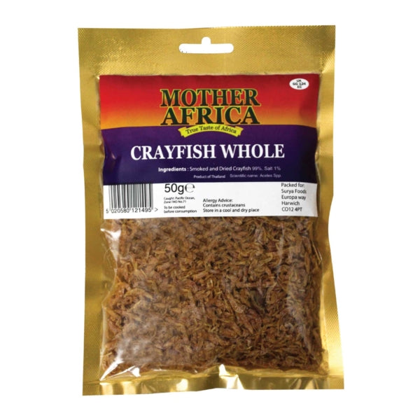 Mother Africa Crayfish Whole 50g