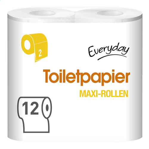EVERYDAY toilet paper.Maxi rolls 2l 396v 12rolls