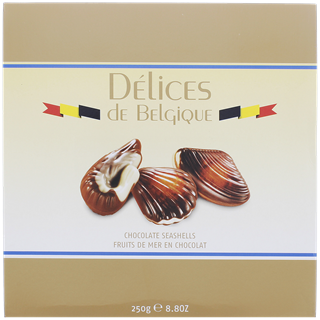 Delices de Belgique seashell chocolade 250g