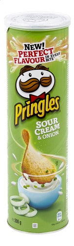 Pringles sour&cream onion chips 200g