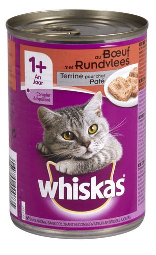 WHISKAS 1+ with beef 400g
