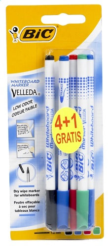 BIC Velleda white markers fine point 4 + 1 free