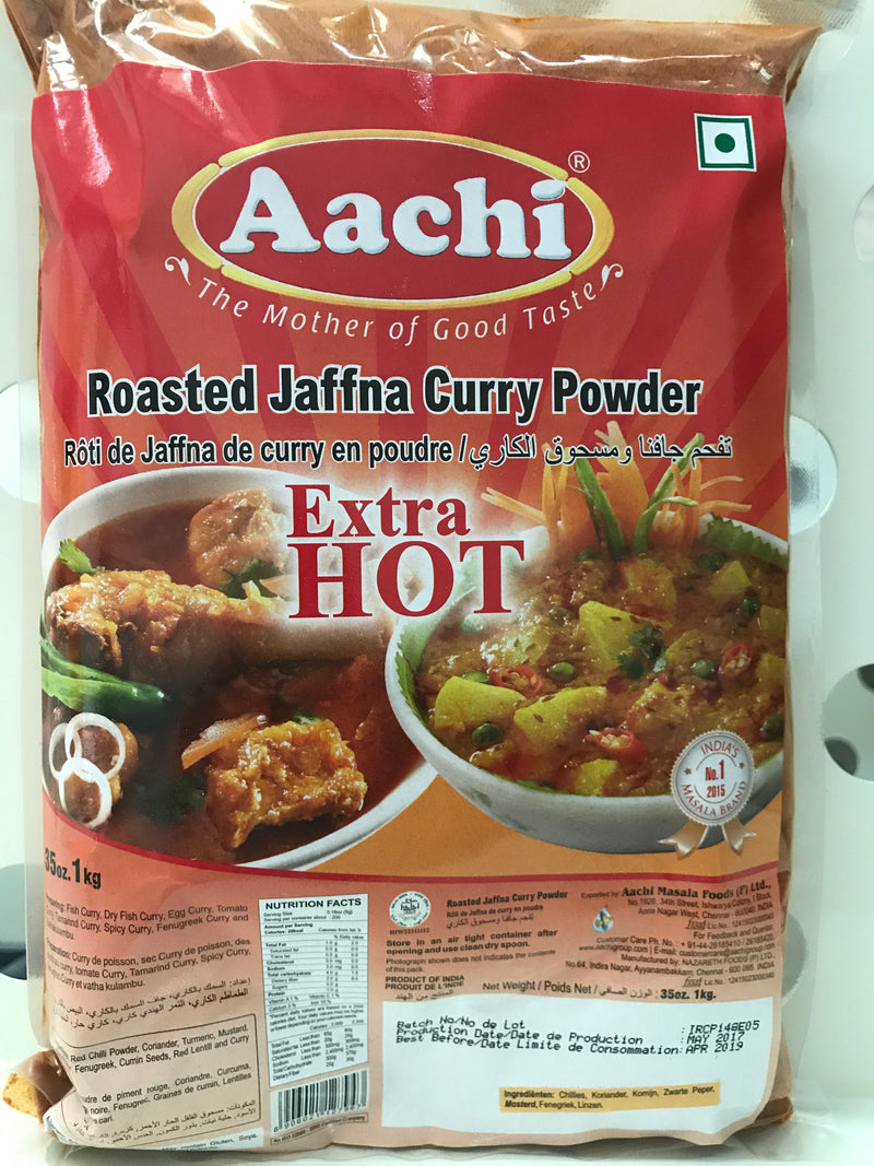 Aachi Roasted Jaffna curry powder extra hot 1kg