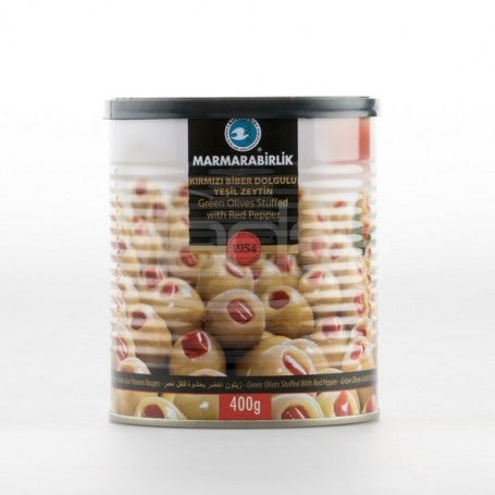 Marmarabirlik Green olives with Red pepper 400g