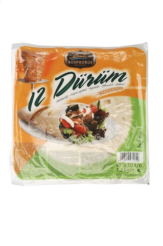 Bosphorus Durum Roll 1,2kg (12 Pieces Halal,+/-30cm)