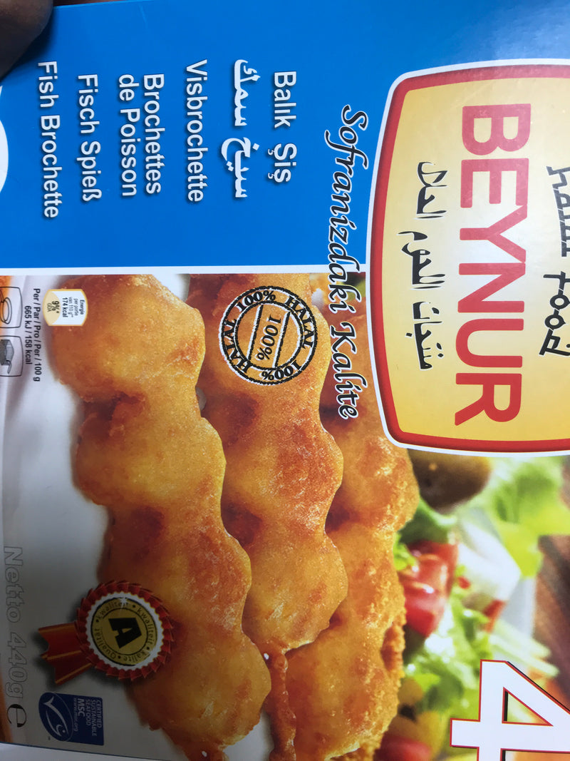 Beynur fish brochettes 4*110g